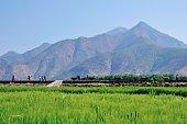 Farm landscape in Shigu Town(Yunnan, China).