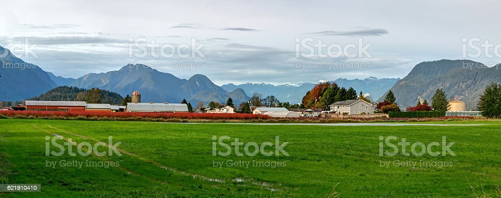 farm landscape stock photo