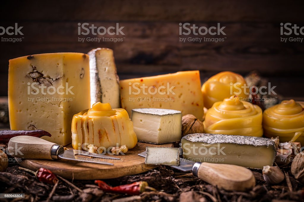 Farm made cheese stock photo