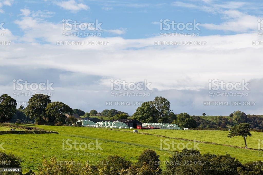 Farm outbuildings in Longnor, Peak District stock photo