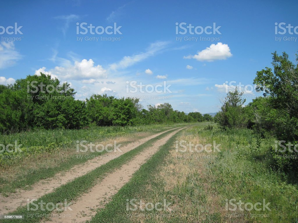 farm road Lizenzfreies stock-foto
