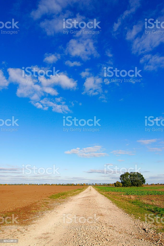 Farm Road royalty-free stock photo
