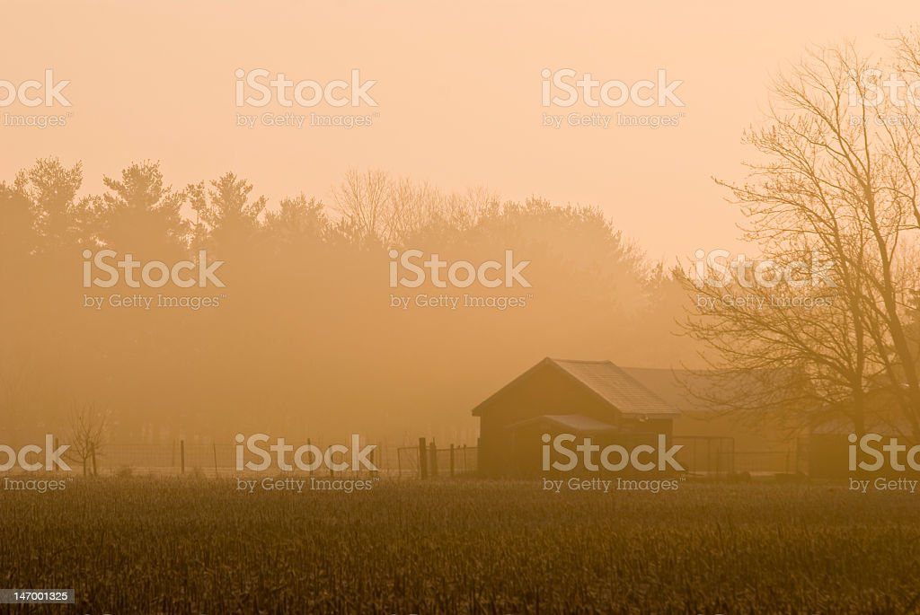 Farm shed royalty-free stock photo