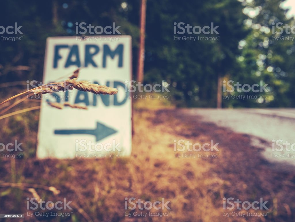 Farm Stand Sign stock photo