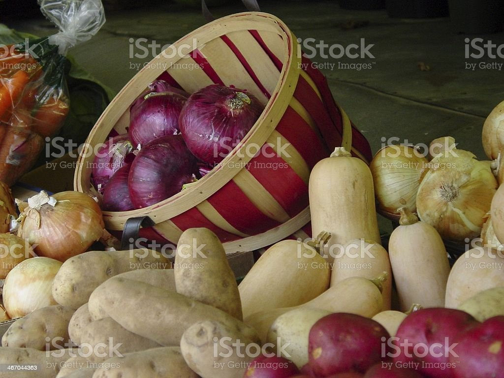 Farm Stand Vegetables royalty-free stock photo