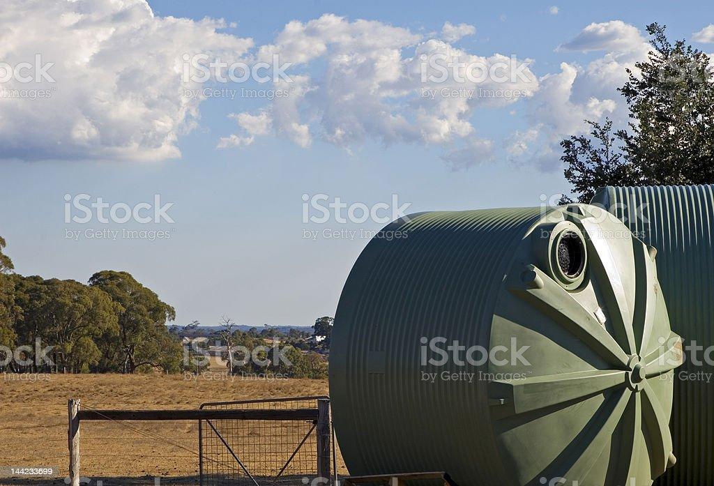 Farm Water Tanks stock photo