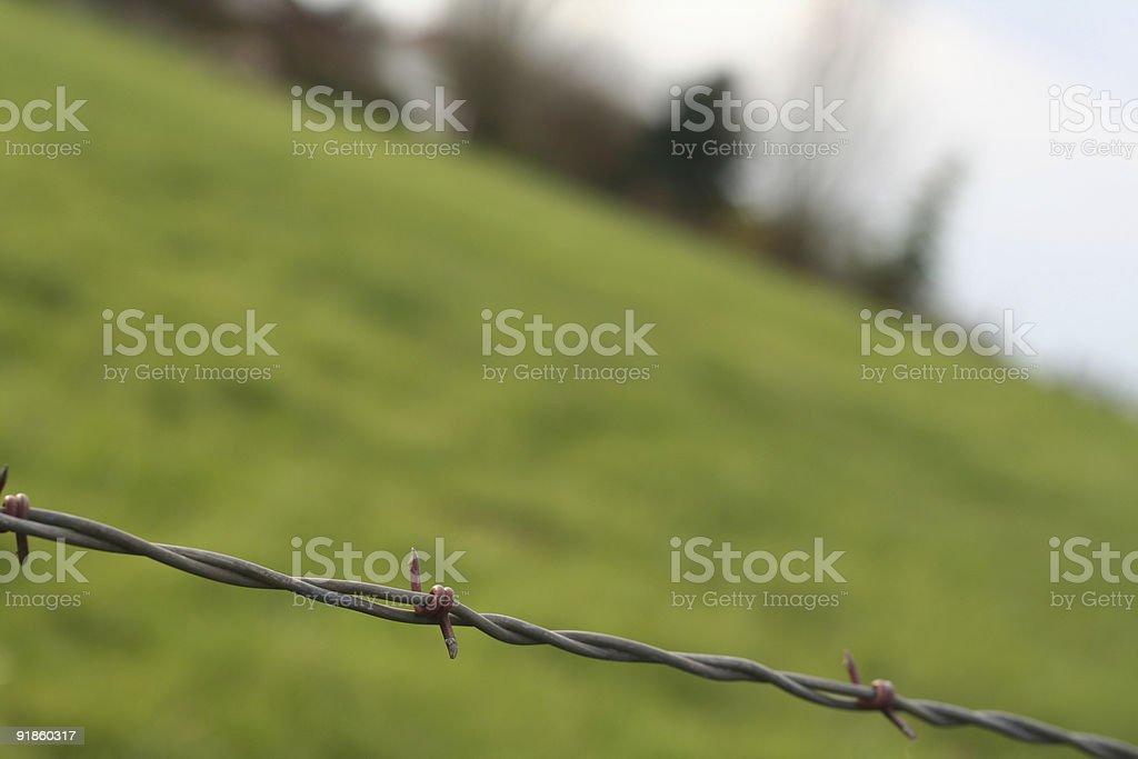 farm wire stock photo