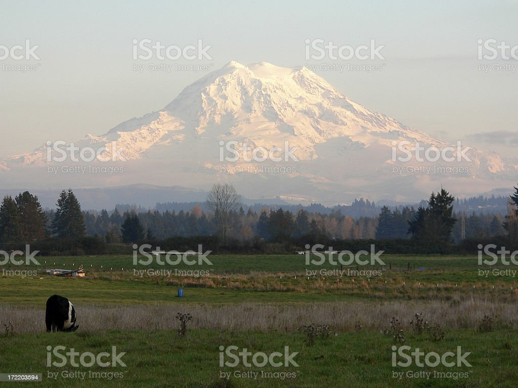 Farm with a view royalty-free stock photo