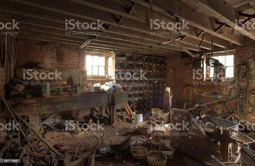 Farm workshop stock photo