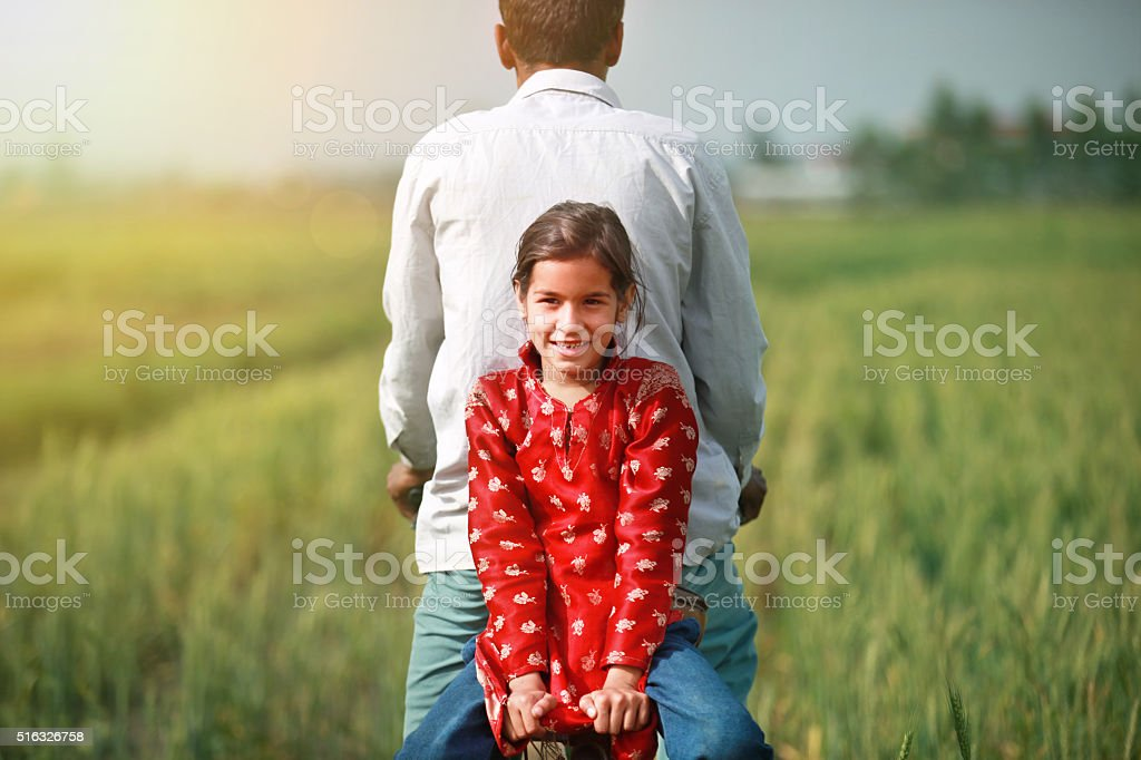 Farmer And Child stock photo