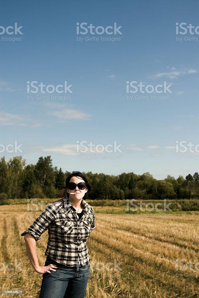 Farmer and smoking royalty-free stock photo