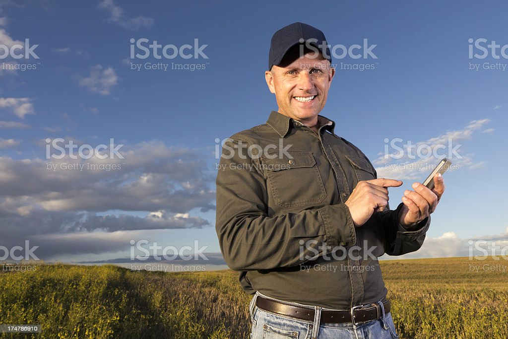 Farmer and Text stock photo