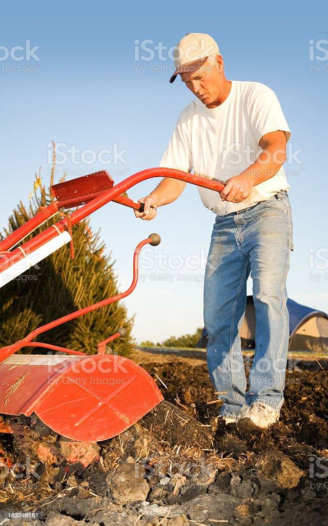 Farmer at Work stock photo