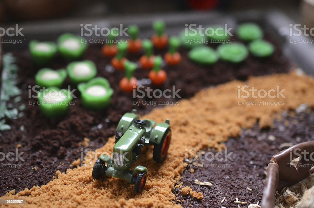 Farmer cake stock photo