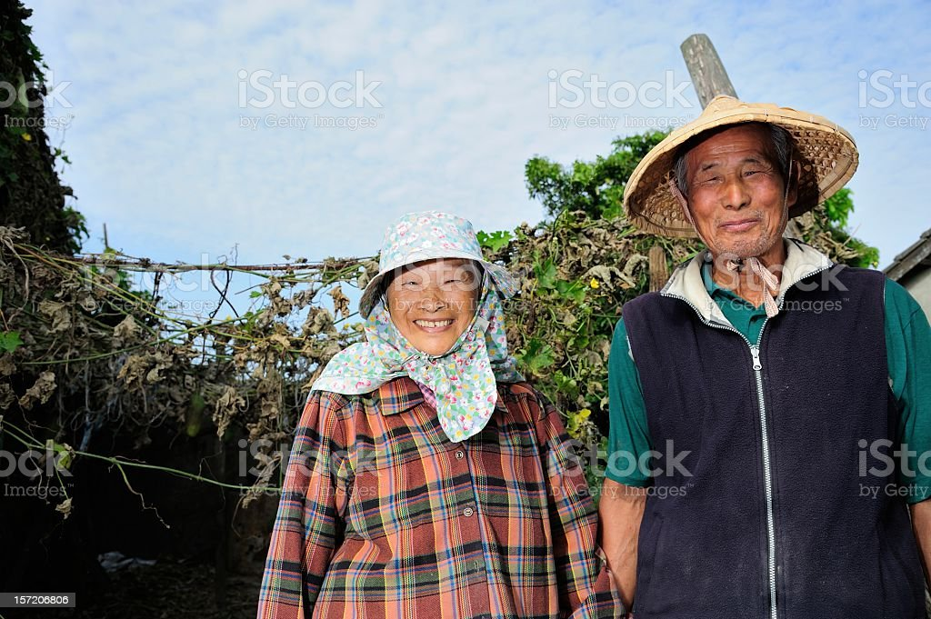 Farmer Couple stock photo