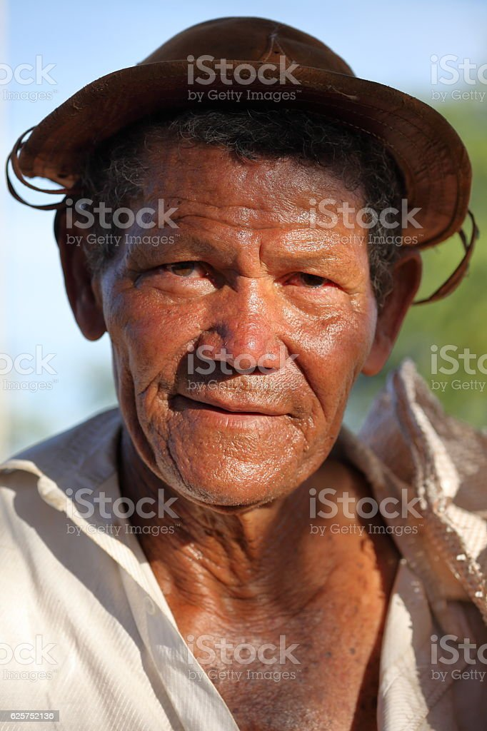 Farmer from Brazil stock photo