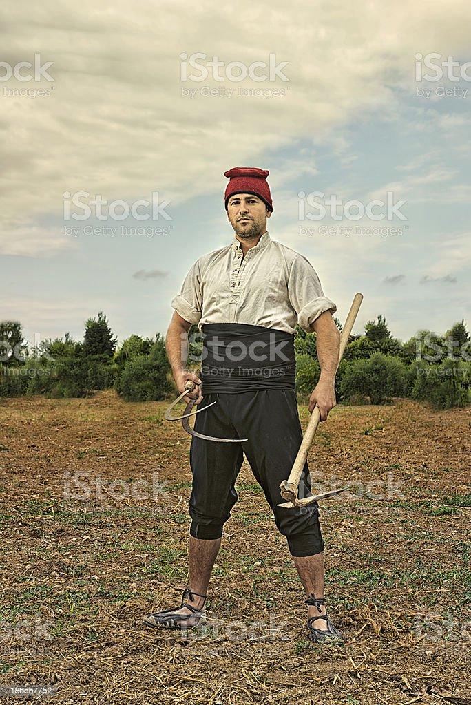 Farmer from Catalonia royalty-free stock photo