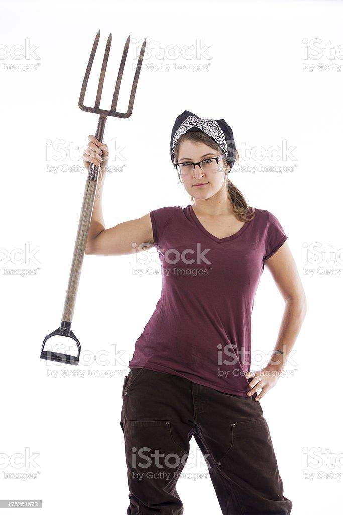 farmer girl royalty-free stock photo