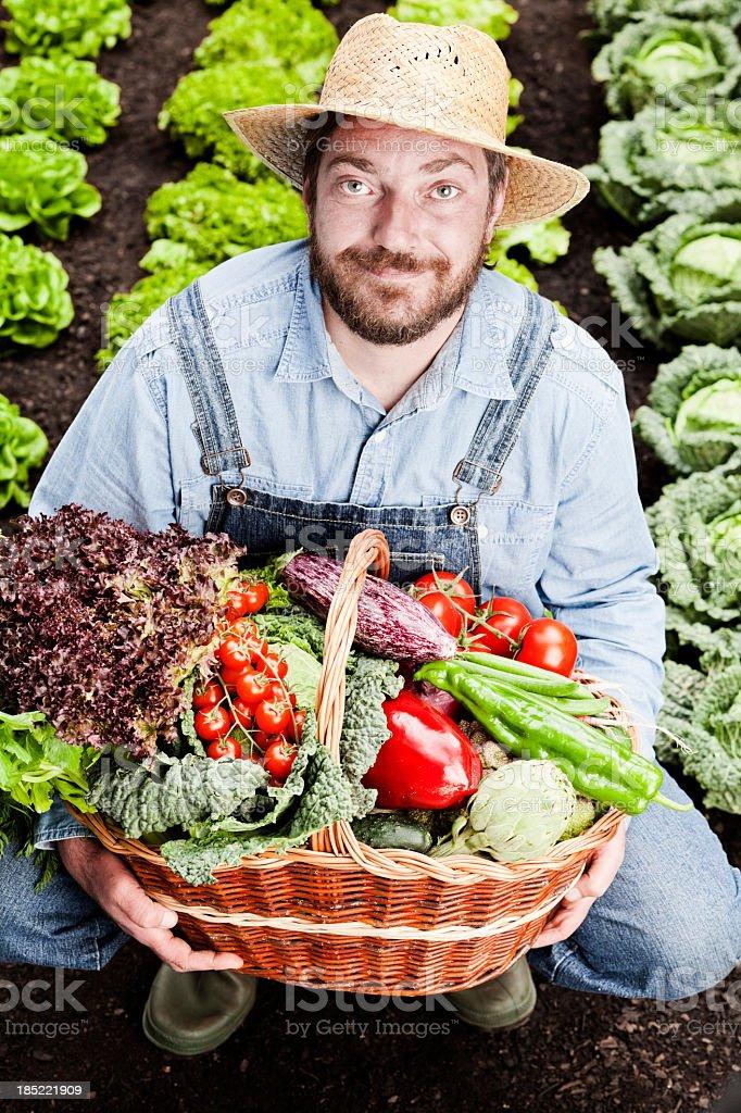 Farmer in field royalty-free stock photo