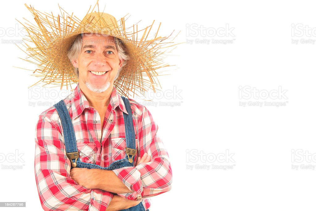 farmer isolated on white stock photo