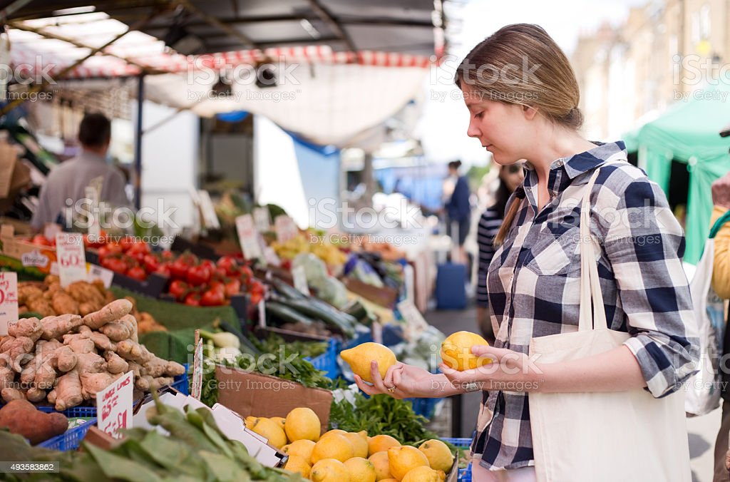 Farmer market stock photo