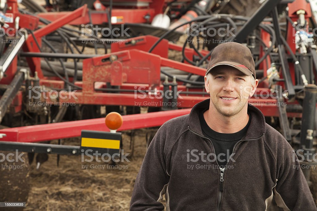 Farmer Seeding royalty-free stock photo