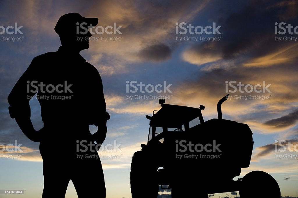 Farmer Silhouette royalty-free stock photo