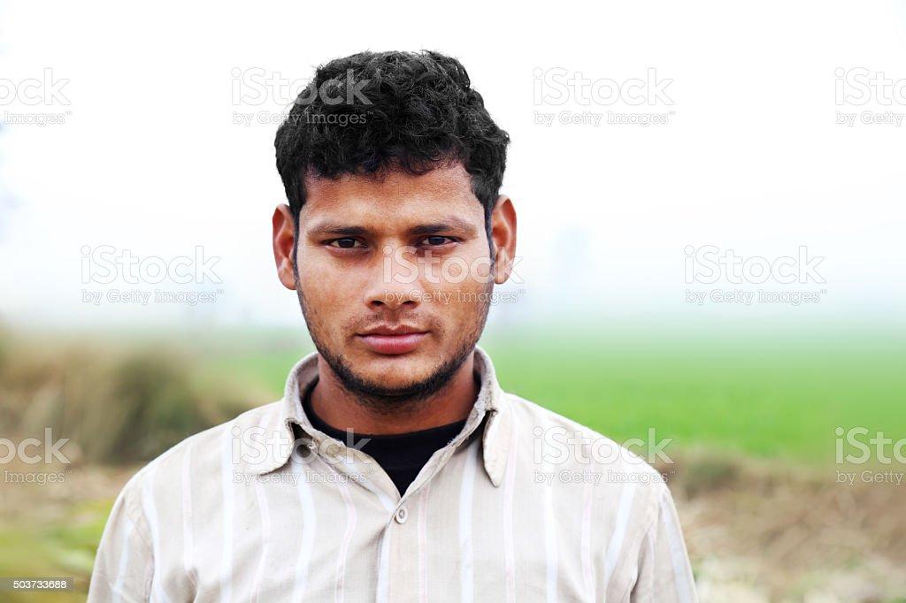 Farmer Standing Portrait stock photo