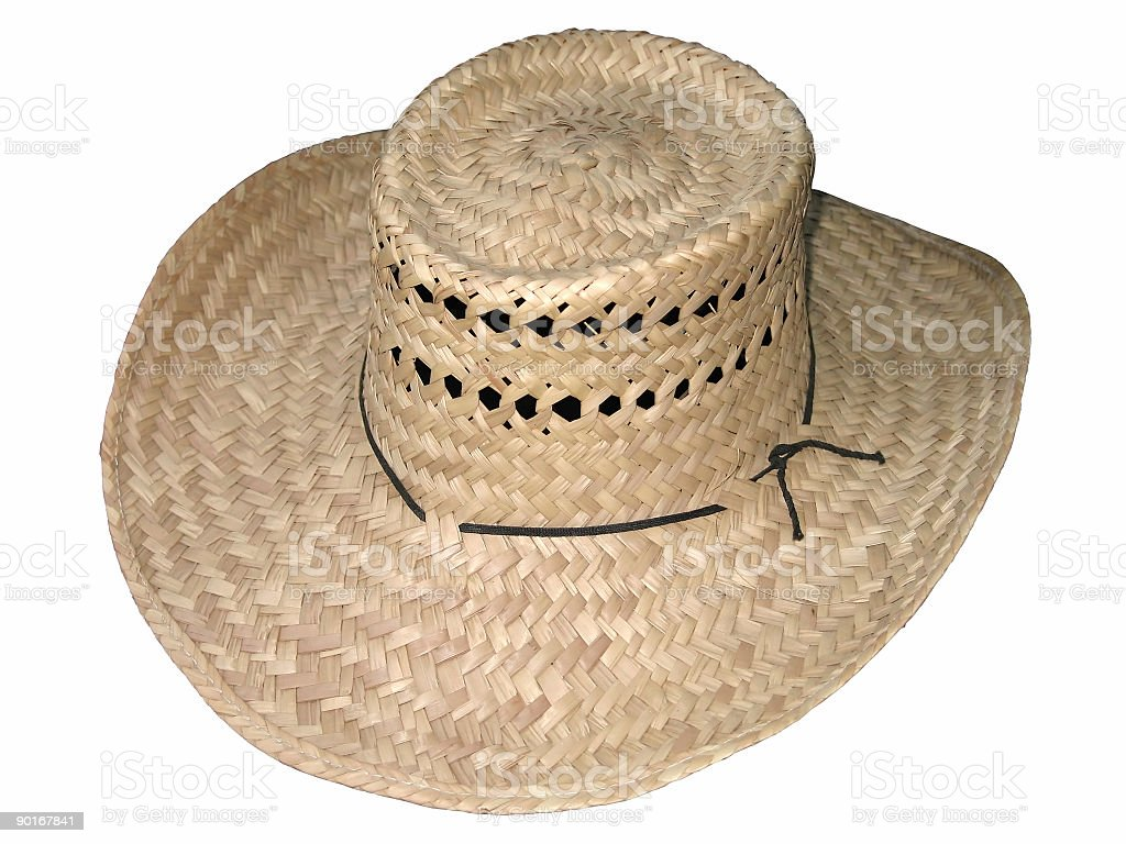 Farmer Straw Hat (Isolated) royalty-free stock photo