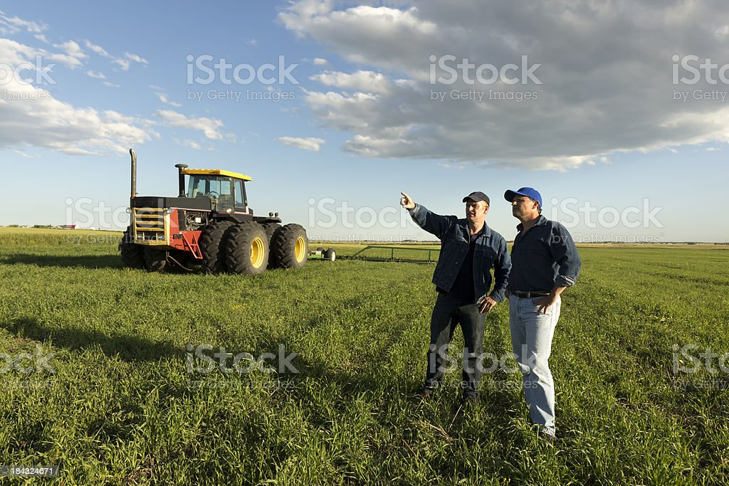 Farmer Teamwork stock photo