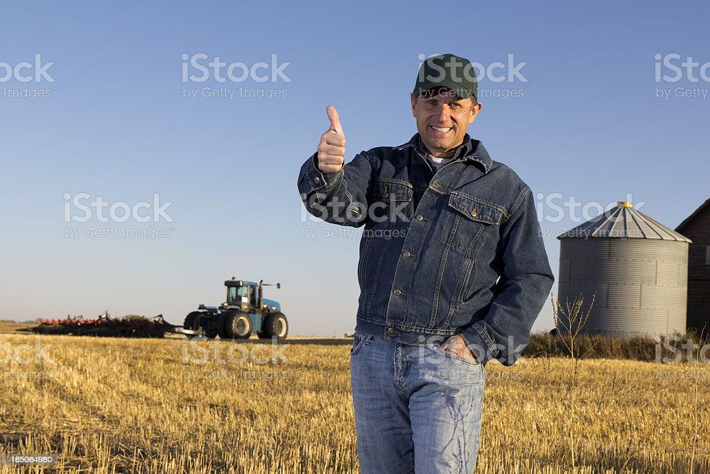 Farmer Thumbs Up royalty-free stock photo