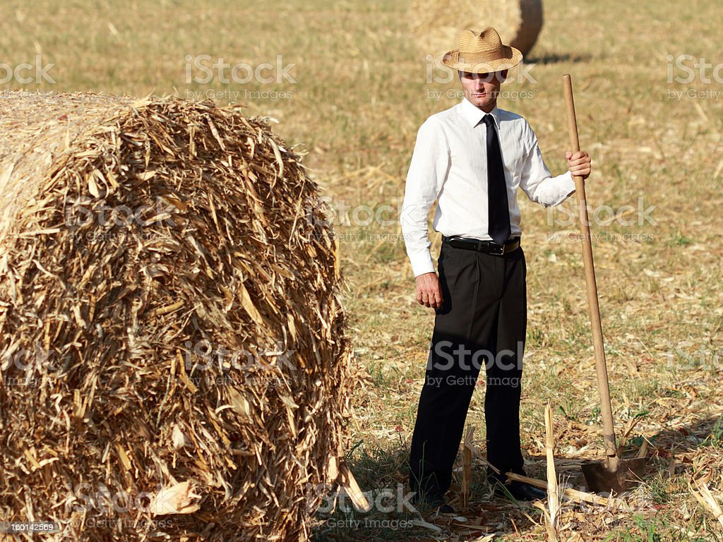 Farmer working in his own country estate royalty-free stock photo
