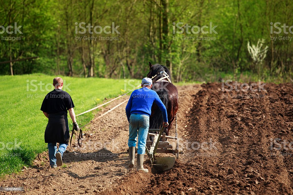 Farmers and traditional agriculture stock photo