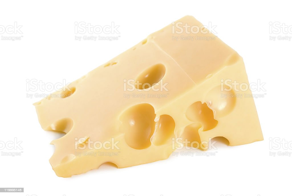 Farmer's cheese isolated royalty-free stock photo