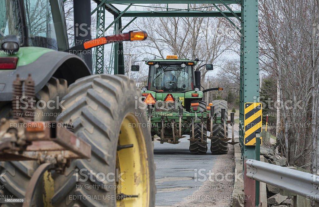 Farmers Cross Narrow Bridge royalty-free stock photo