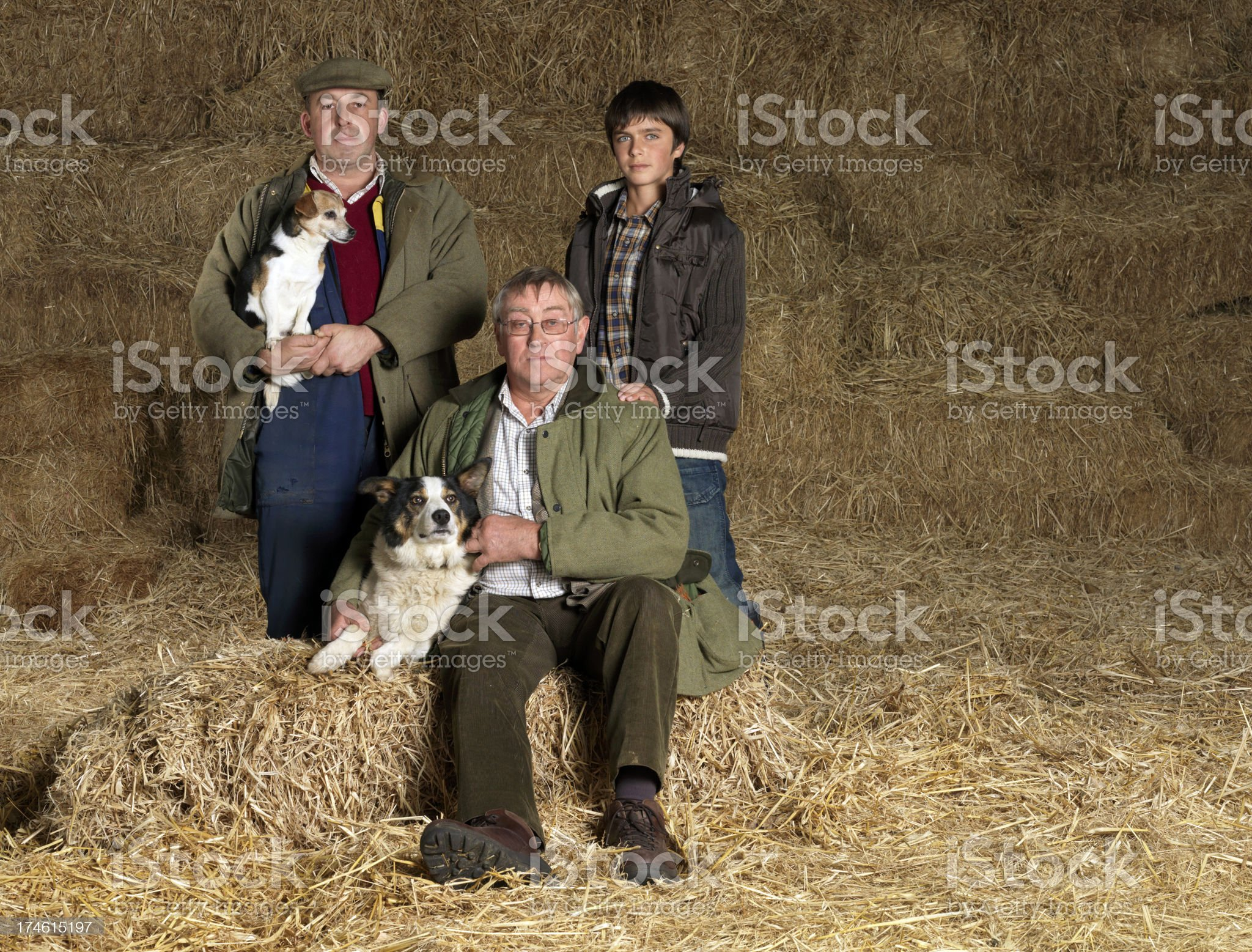 Farmers group royalty-free stock photo