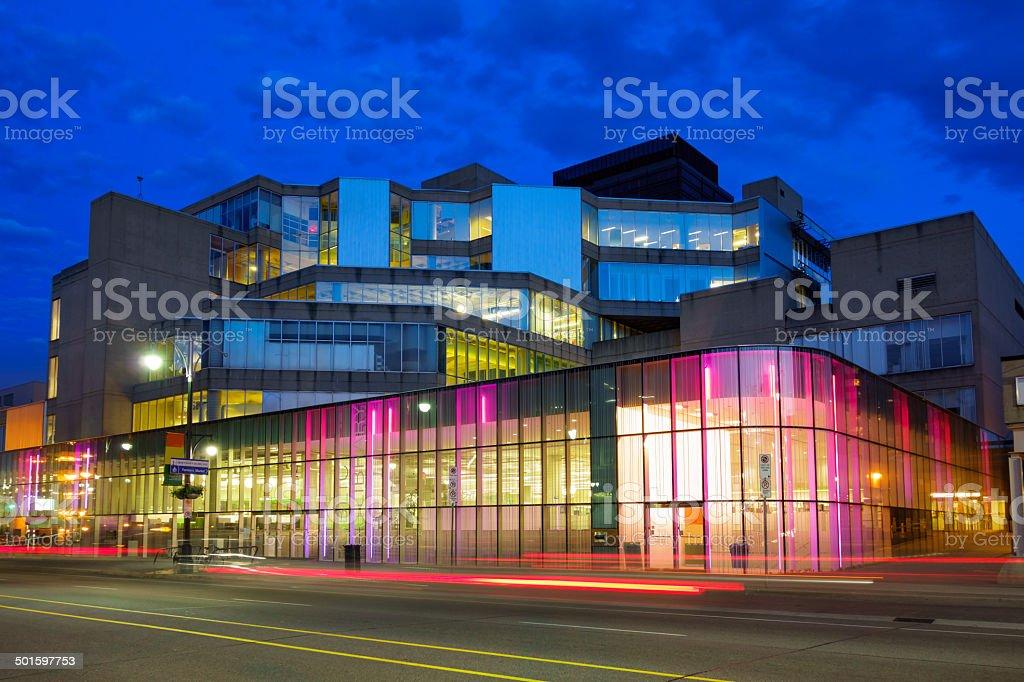 Farmers Market and Public Library in Hamilton Ontario Canada stock photo