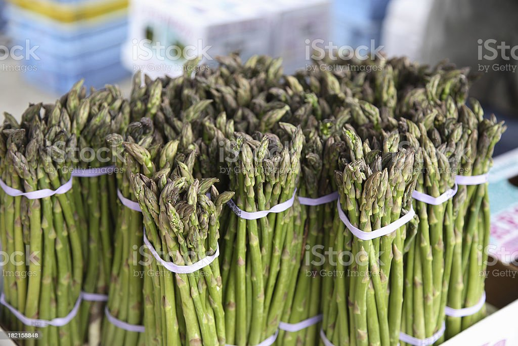 Farmers Market: Asparagus stock photo