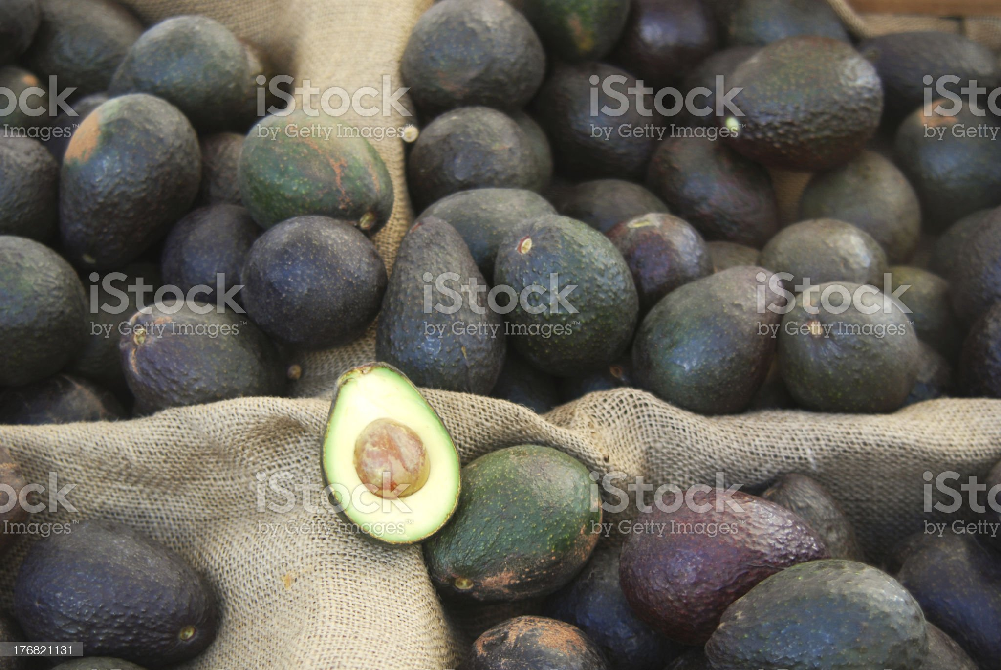 Farmer's Market Avocados royalty-free stock photo