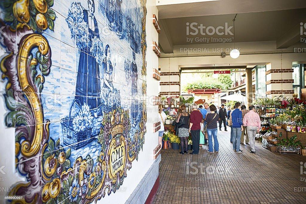 Mercado dos Lavradores ,Azulejo,  Funchal, Madeira. royalty-free stock photo