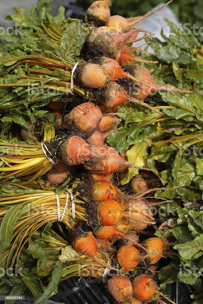Farmers Market: Beets royalty-free stock photo