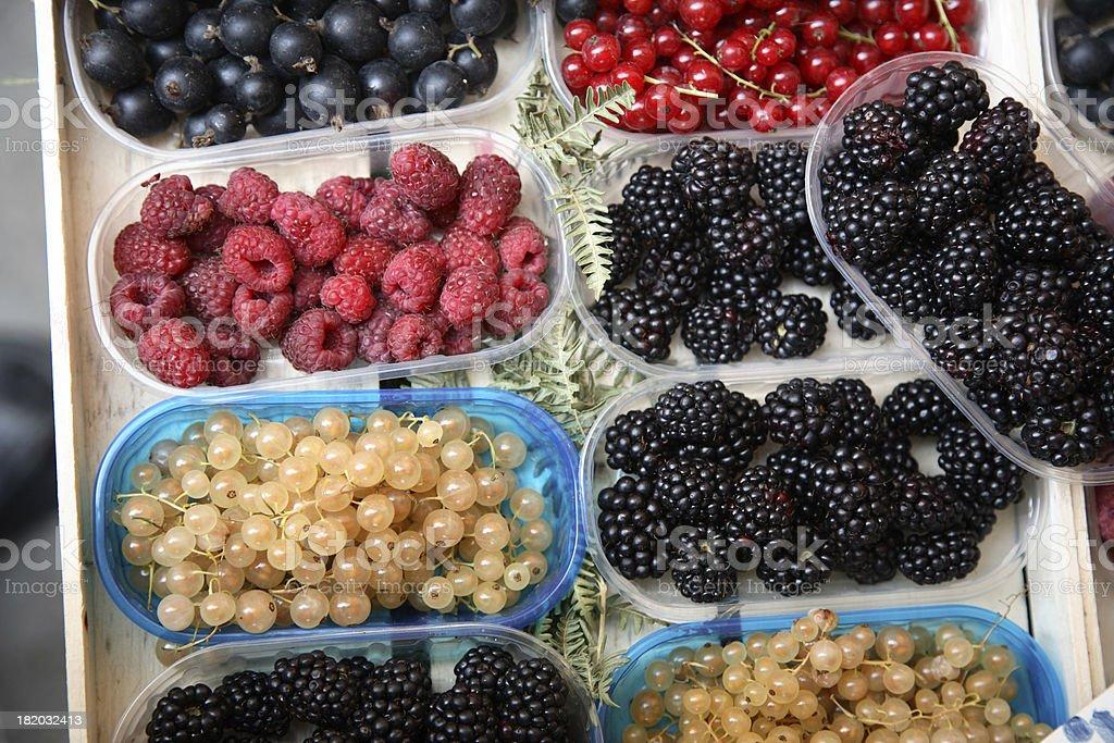 Farmers Market: Berries royalty-free stock photo