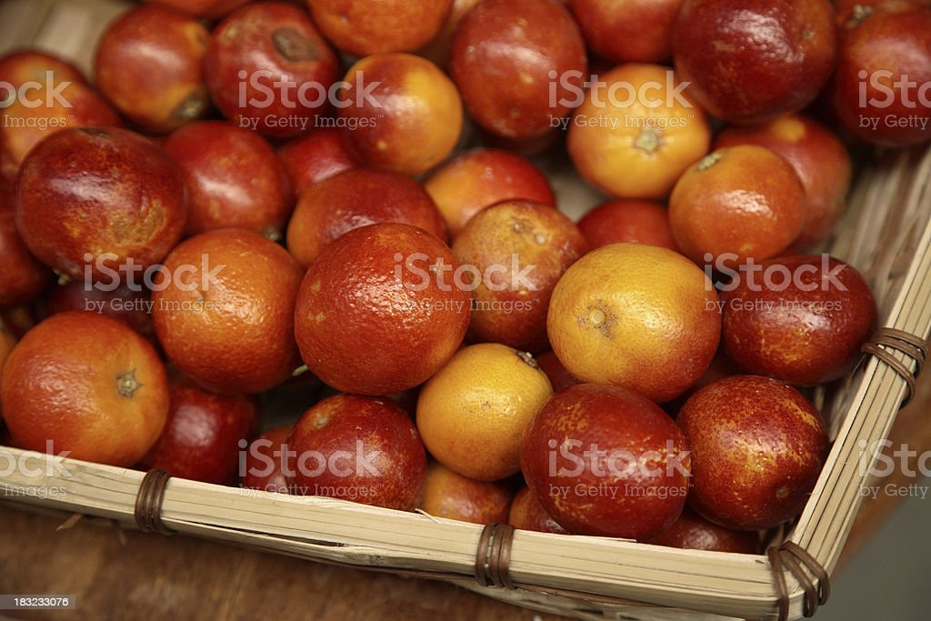 Farmers Market: Blood Oranges royalty-free stock photo