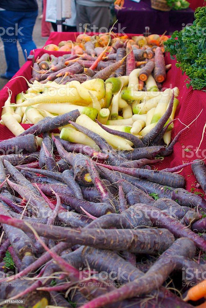 farmer's market carrots royalty-free stock photo