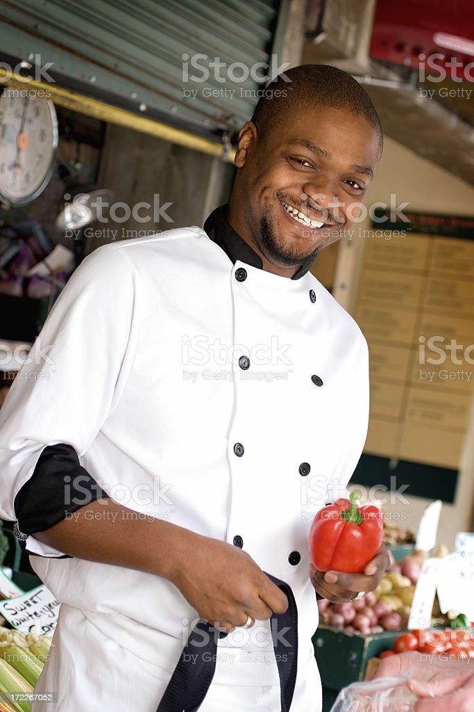 Farmer's Market - Chef Shopping stock photo