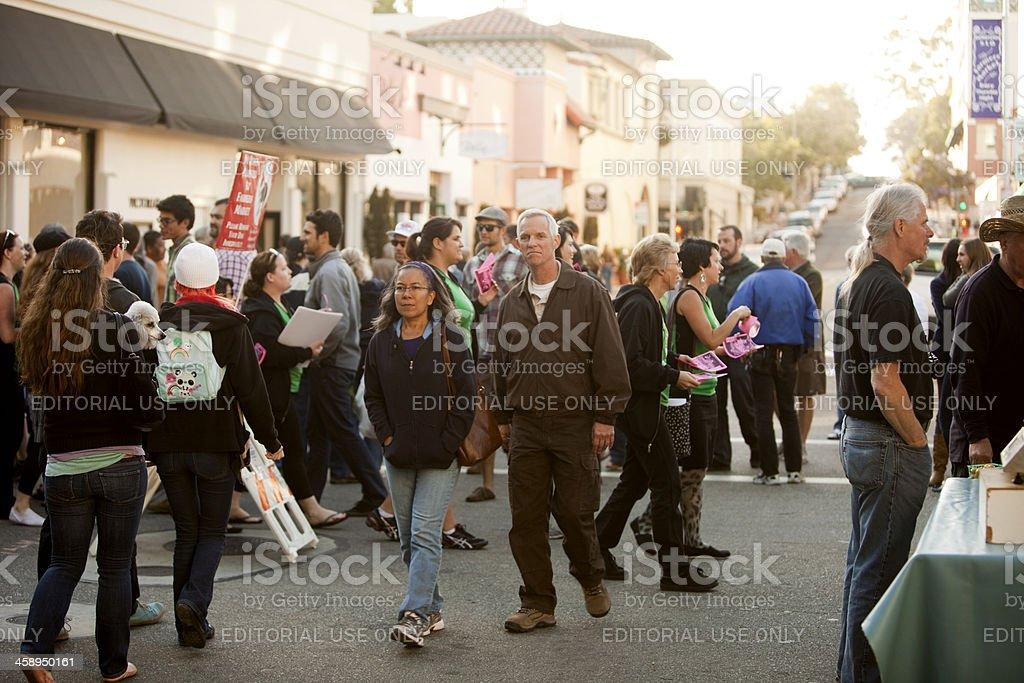 Farmers Market Crowd royalty-free stock photo