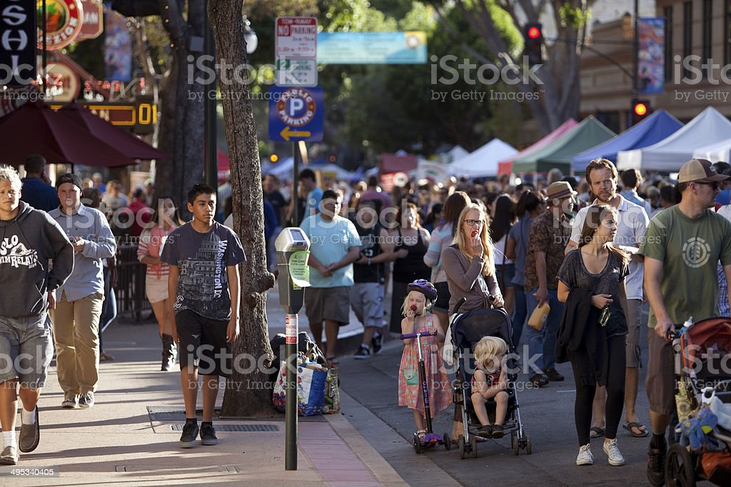 Farmers Market Crowd stock photo
