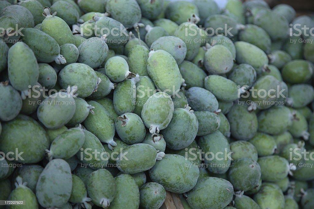 Farmers Market: Feijoa royalty-free stock photo