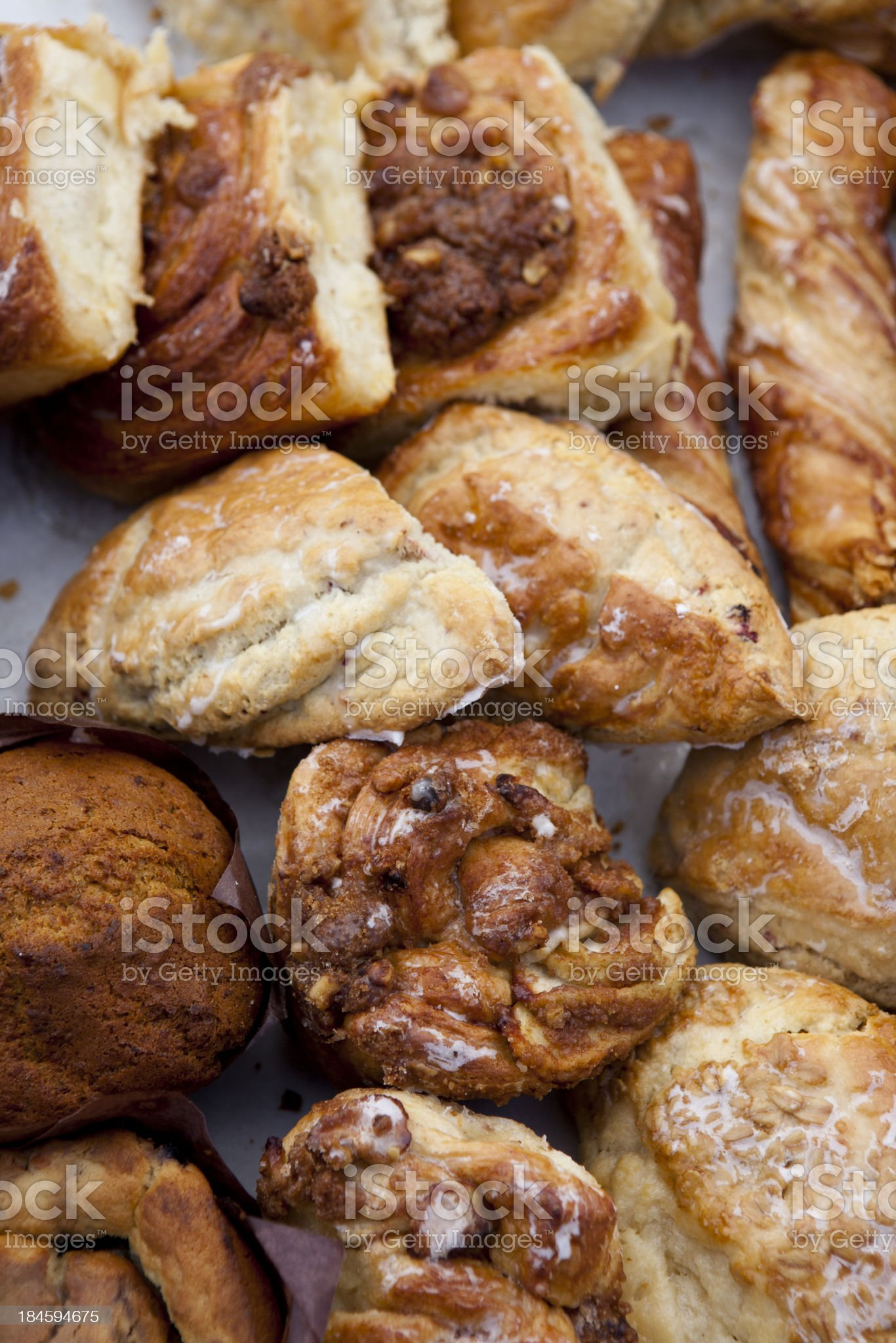 Farmers Market fresh breads and pastries, Aspen Colorado royalty-free stock photo
