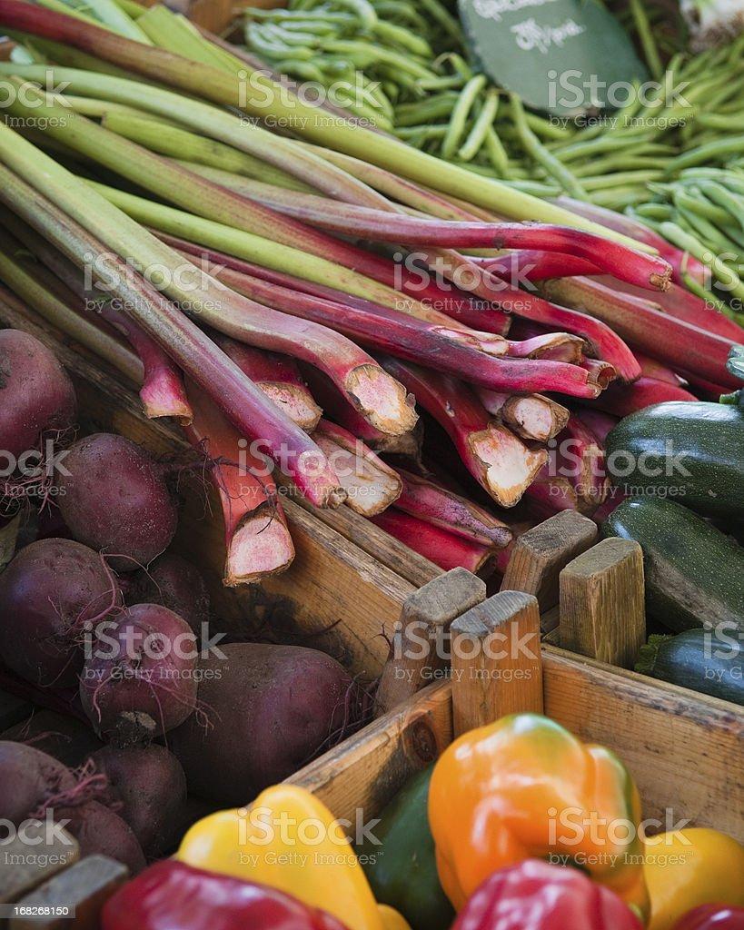 Farmers market fresh organic produce. stock photo